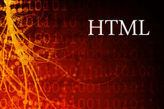 HTML. Abstract Background in Red and Black Royalty Free Stock Photo