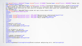 HTML Abstract Code Vector. Colorful Tags In Browser View. Source Code. Abstract Computer Script. HTML Simple Code Vector. Colorful Abstract Program Tags In vector illustration