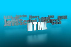 HTML and around. Building a website 3d text Stock Photography