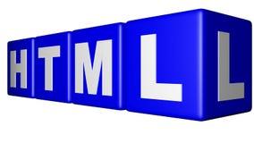 HTML błękita sześciany Zdjęcia Royalty Free