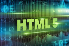 HTML 5 on blackboard Stock Photo