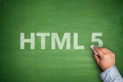 HTML 5 on blackboard Royalty Free Stock Photo