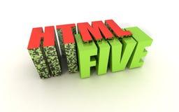 HTML cinq Photographie stock libre de droits