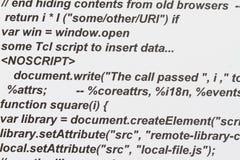 HTML-Code Stockbild