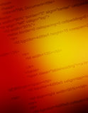 Html code closeup. Close up of the HTML code behind a web site royalty free stock image