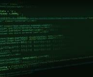 HTML Code Green Background Stock Photos