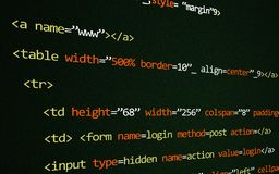 HTML code on page