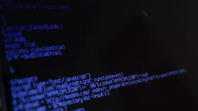 Html code on screen stock footage
