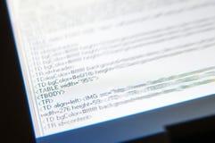 Html code. Screen with html code writings Stock Photo