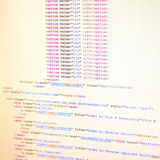 HTML code Royalty Free Stock Image