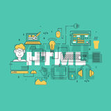 HTML coder creative banner Royalty Free Stock Photos
