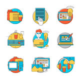 HTML coder icons set Royalty Free Stock Images