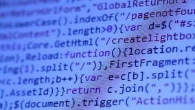 HTML codes stock video