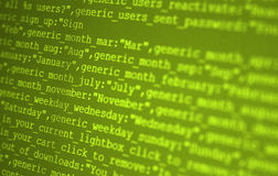 HTML codes Stock Photo