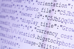 HTML codes Stock Photography