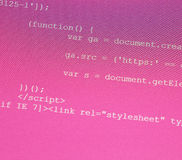 HTML codes Stock Photos