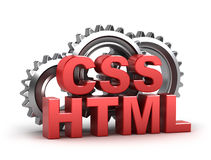 HTML, codificazione di css Fotografia Stock