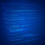 HTML Coding Background. Illustration of html coding on technology background royalty free illustration