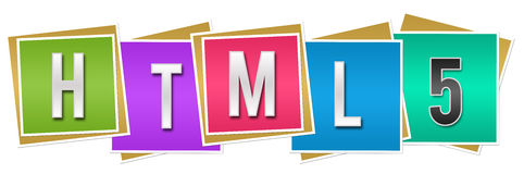 HTML 5 Colorful Blocks Stock Photo