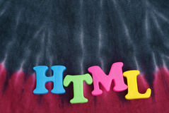 HTML colorful  text Stock Photos