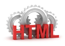 HTML concept. Isolated on white stock illustration