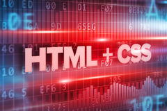 HTML and css abstract concept blue text blue background. HTML and css abstract concept blue text on blue background royalty free illustration