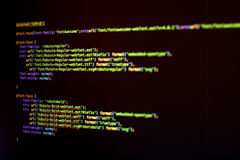 HTML5 and CSS code Royalty Free Stock Image