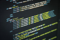 HTML and CSS code Stock Image