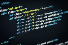 HTML and CSS code Stock Photo