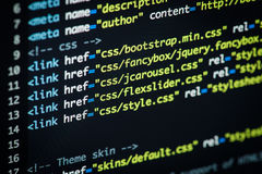 HTML and CSS code Royalty Free Stock Photos