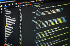 HTML and CSS code Stock Photos