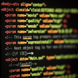HTML and CSS code Royalty Free Stock Photography