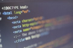 Html and css web design and coding Stock Photos