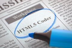 HTML5 de codeur wordt lid van Ons Team 3d Royalty-vrije Stock Afbeeldingen