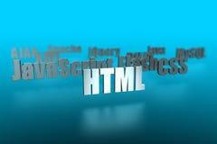 HTML e ao redor ilustração stock