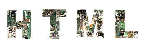 Html electronic Stock Photography