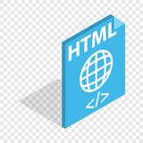 HTML file extension isometric icon Stock Image