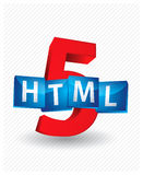 HTML5. 3D illustration of html5 code Royalty Free Stock Image