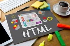 HTML Global Communication Software Internet  Web Development Cod Royalty Free Stock Photography
