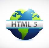 Html 5 globe sign illustration design Royalty Free Stock Images