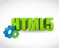 HTML-het ontwerp van de het tekenillustratie van de toesteltekst Stock Foto