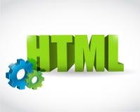 HTML-het ontwerp van de tekenillustratie Stock Foto