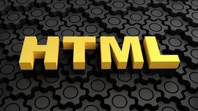 HTML - Hypertext-Preisaufschlag-Sprache Lizenzfreie Stockbilder