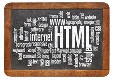 Html - hypertextvinstspråk Arkivfoton