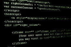 Html internet code Stock Images