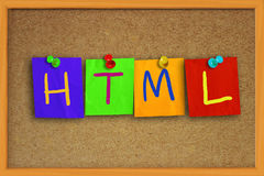 HTML Internet Concept Royalty Free Stock Photography