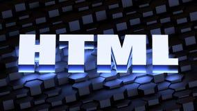 HTML - Língua de margem de benefício de hypertext Imagens de Stock Royalty Free