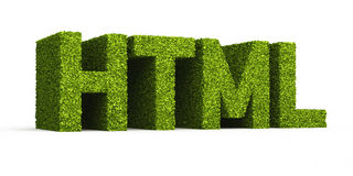 Html leaf formation icon Stock Photo