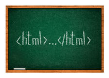 Html lesson one Stock Photo