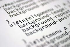 HTML-markeringen Stock Fotografie